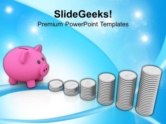 Piggy Bank Money Growth Investment PowerPoint Templates Ppt Backgrounds For Slides 0113