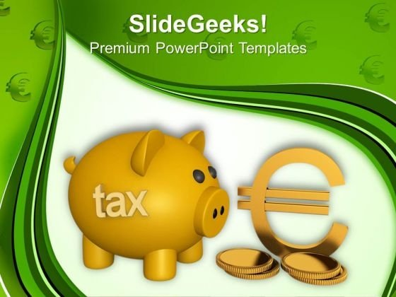 Piggy Bank Saving Money PowerPoint Templates And PowerPoint Themes 1012