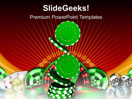 Pile Of Casino Chips Gambling Success PowerPoint Templates Ppt Backgrounds For Slides 0313
