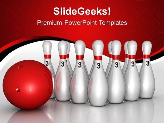 Pins With Ball Targets Game PowerPoint Templates And PowerPoint Themes 0712