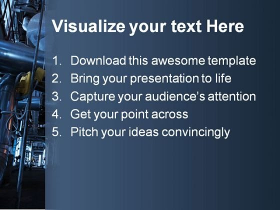 pipeline industrial powerpoint template 0810 - powerpoint themes, Modern powerpoint