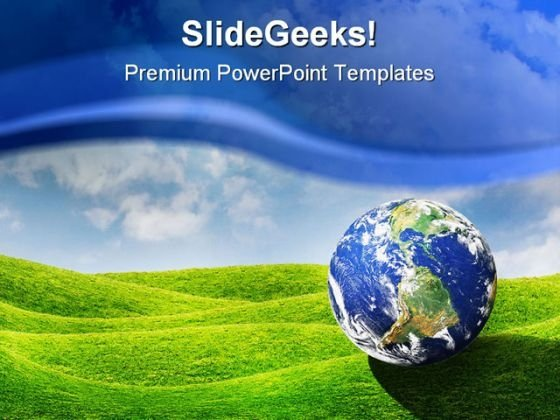 Planet Earth Globe PowerPoint Template 0910