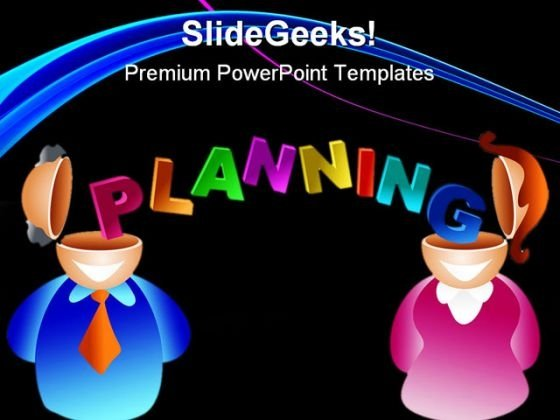 Planning Brain Business PowerPoint Background And Template 1210