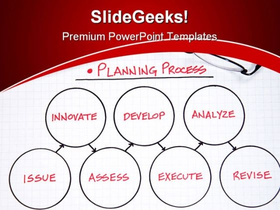 Planning Business PowerPoint Background And Template 1210