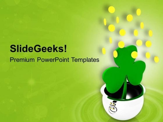 Plant Of Green Leaf PowerPoint Templates Ppt Backgrounds For Slides 0813