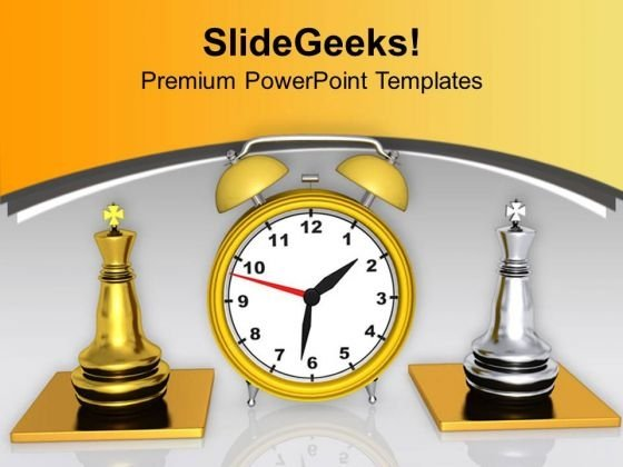 Play Chess With Limited Time PowerPoint Templates Ppt Backgrounds For Slides 0513