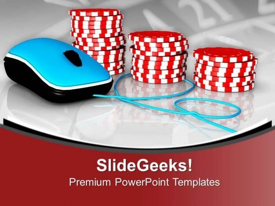 Play Online Poker Game PowerPoint Templates Ppt Backgrounds For Slides 0613