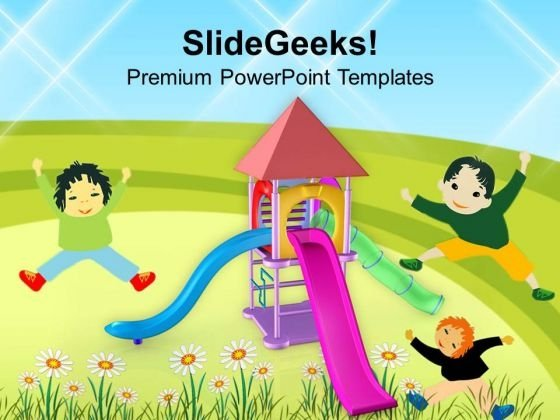Playground For Children Amusement PowerPoint Templates Ppt Backgrounds For Slides 0613