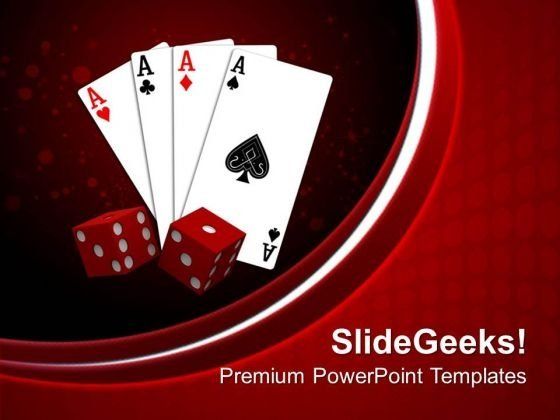 Playing Card With Dices Game PowerPoint Templates Ppt Backgrounds For Slides 0313