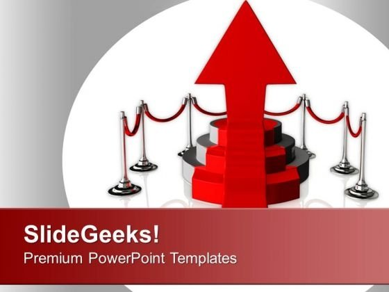 Podium On White Background Is Success PowerPoint Templates Ppt Backgrounds For Slides 0213