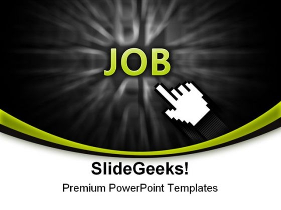 Pointing On Job Business PowerPoint Templates And PowerPoint Backgrounds 0511