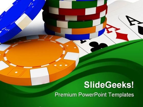 Poker Chip Stack Game PowerPoint Templates And PowerPoint Backgrounds 0611