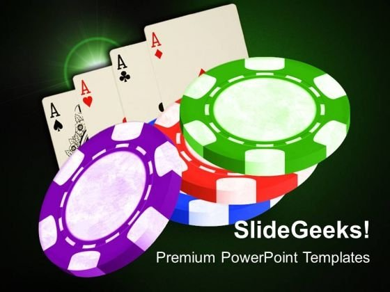 Poker Chips Game PowerPoint Templates And PowerPoint Themes 0612