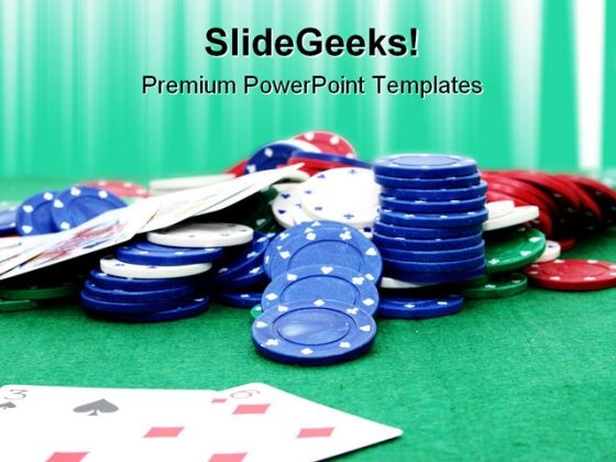 Poker Chips Game PowerPoint Themes And PowerPoint Slides 0811