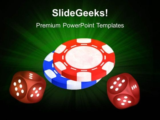 Poker Chips Risk Business PowerPoint Templates And PowerPoint Themes 0512