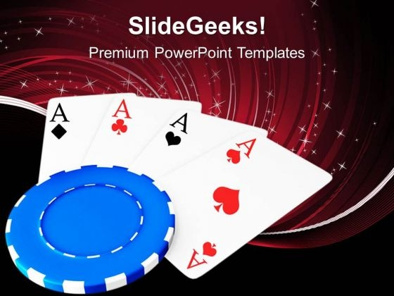 Poker Is A Game Of Cards PowerPoint Templates Ppt Backgrounds For Slides 0513