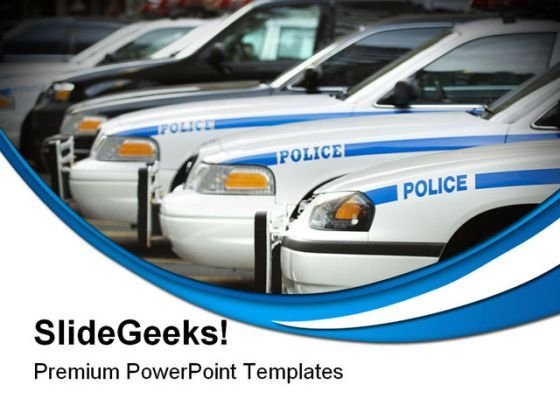 Police Cars Government PowerPoint Templates And PowerPoint Backgrounds 0311