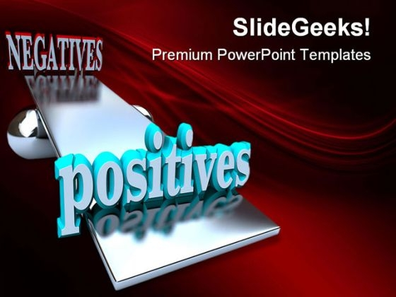 Positives Negatives Symbol PowerPoint Templates And PowerPoint Backgrounds 0311