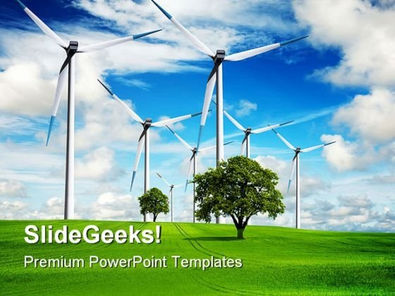 Power And Ecology Nature Tehnology PowerPoint Templates And PowerPoint Backgrounds 0411