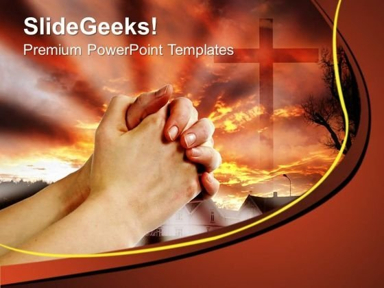 Prayer Christian People PowerPoint Templates And PowerPoint Themes 0712