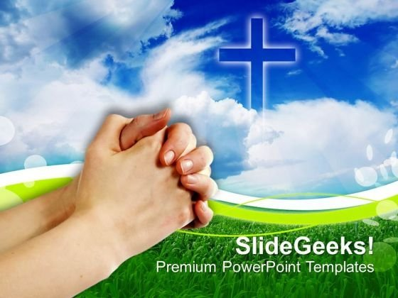 Prayer Church PowerPoint Templates And PowerPoint Themes 0812