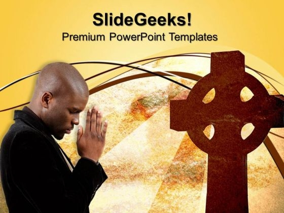 Praying For Peace Church PowerPoint Templates And PowerPoint Themes 0812