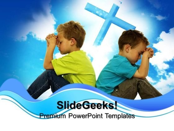 Praying Friends Children PowerPoint Templates And PowerPoint Themes 0712