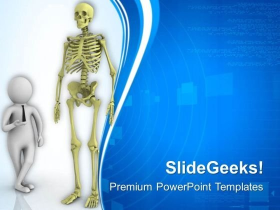 Presenting Human Skeleton PowerPoint Templates Ppt Backgrounds For Slides 0713