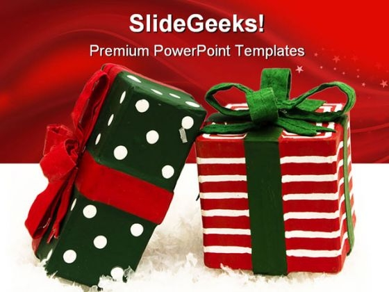 Presents Christmas PowerPoint Template 0610