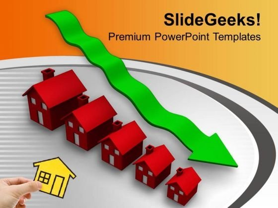 Prices Decreases Of Real Estate PowerPoint Templates Ppt Backgrounds For Slides 0313