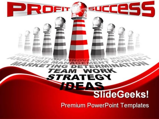 Profit And Success Global Business PowerPoint Templates And PowerPoint Backgrounds 0911