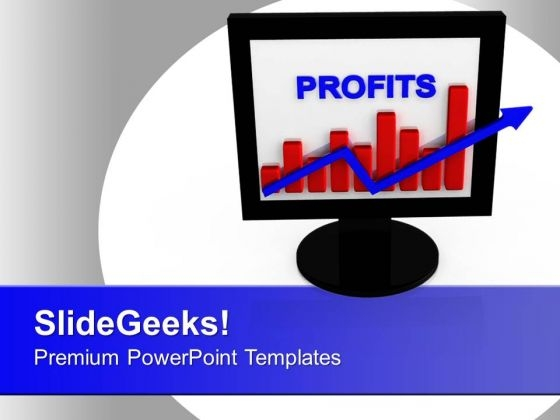 Profit Bar Graph Presentation Success PowerPoint Templates Ppt Backgrounds For Slides 0113
