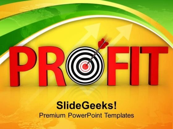 Profit Goal Achieved Business PowerPoint Templates Ppt Backgrounds For Slides 0413