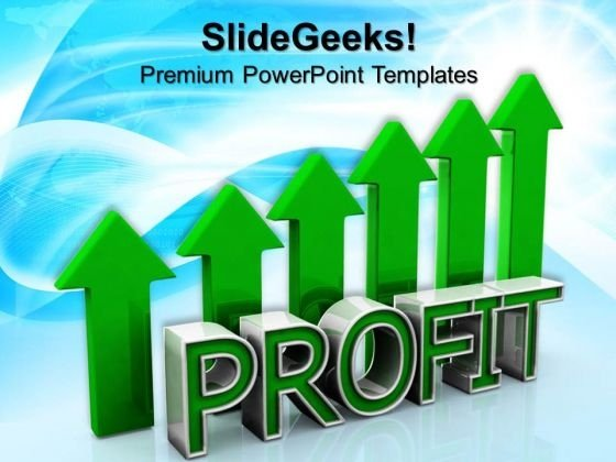 Profit Graph Concept Success PowerPoint Templates And PowerPoint Themes 0812