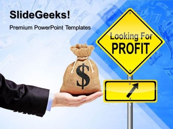 Profit Signpost Finance PowerPoint Templates And PowerPoint Themes 0412