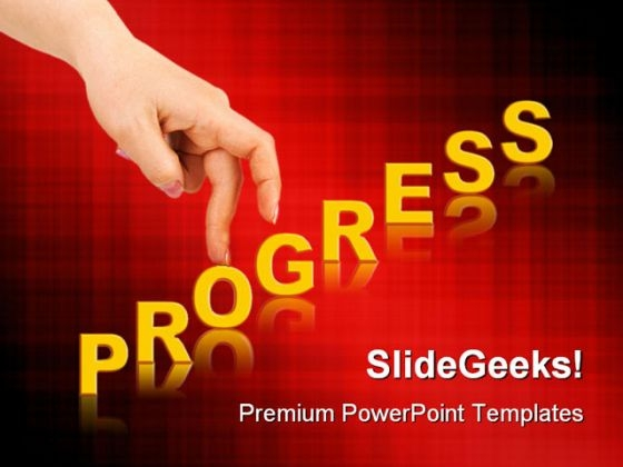 Progress Business PowerPoint Backgrounds And Templates 1210