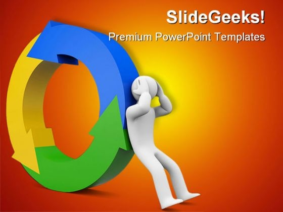Progress Or Changes Metaphor PowerPoint Themes And PowerPoint Slides 0411