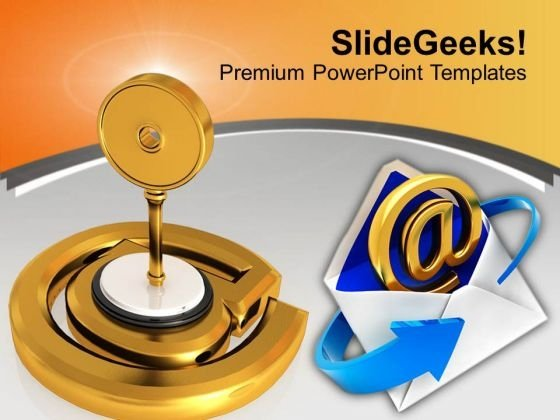 Protected Email Sign Internet PowerPoint Templates Ppt Backgrounds For Slides 0313