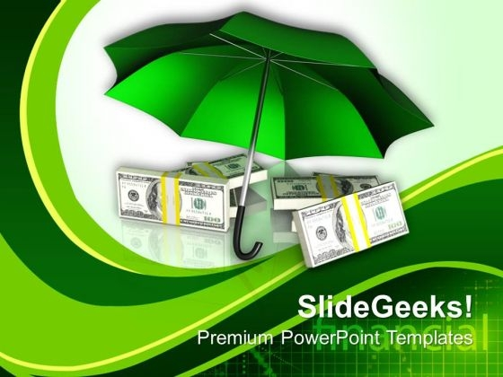 Protecting Money Finance PowerPoint Templates Ppt Backgrounds For Slides 0313