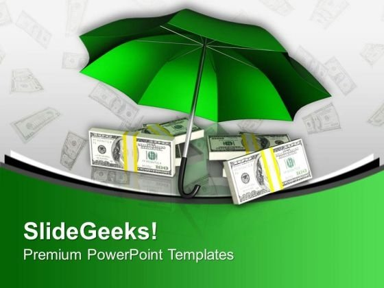 Protecting Money Finance Theme PowerPoint Templates Ppt Backgrounds For Slides 0513
