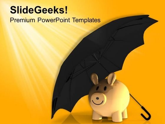 Protection Under Umbrella Savings Finance PowerPoint Templates Ppt Backgrounds For Slides 0313