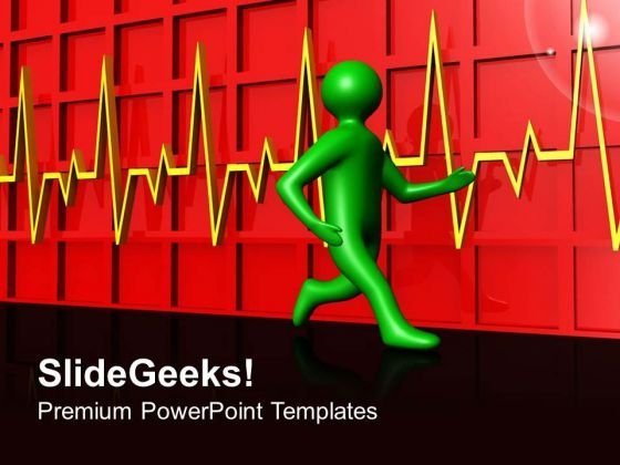 Pulse Rate Health PowerPoint Templates And PowerPoint Themes 0612