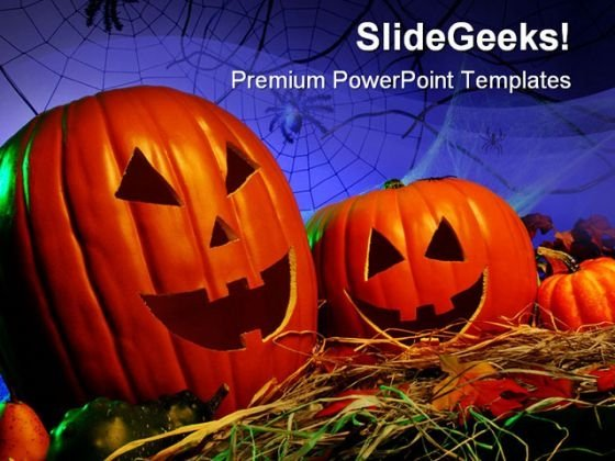Pumkin Nature PowerPoint Template 0910
