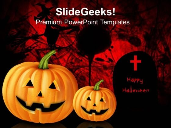 Pumpkin Horror Abstract PowerPoint Templates And PowerPoint Themes 0812
