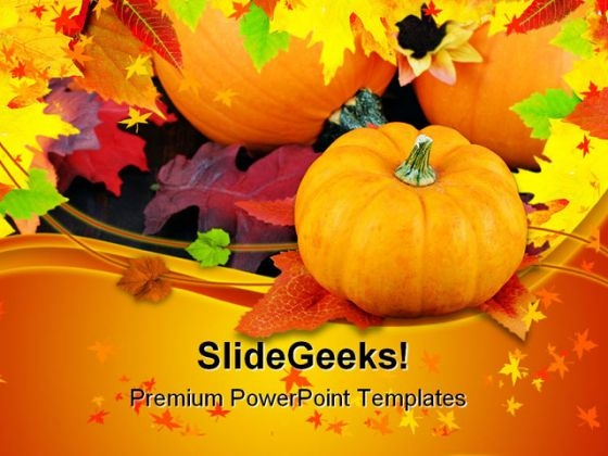 Pumpkins Daisies And Fall Nature PowerPoint Themes And PowerPoint Slides 0411
