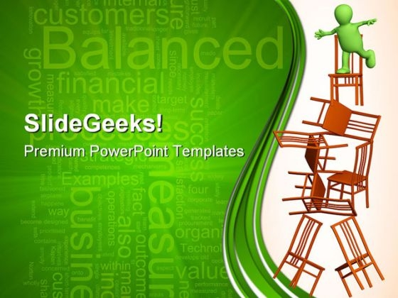 Puppet Balancing Business PowerPoint Themes And PowerPoint Slides 0411