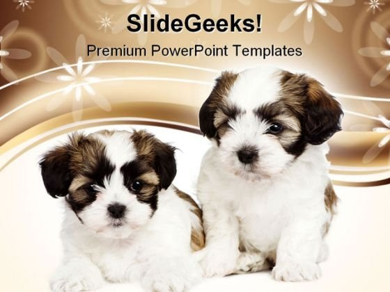 Puppy Dogs Animals PowerPoint Templates And PowerPoint Backgrounds 0611