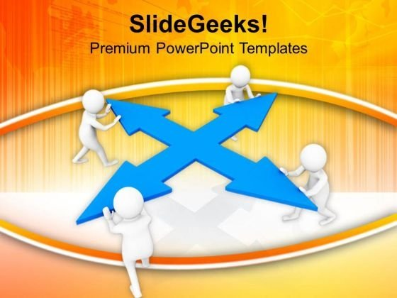 Push Away The Confusion PowerPoint Templates Ppt Backgrounds For Slides 0813