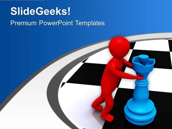 Push The Right Method To Win PowerPoint Templates Ppt Backgrounds For Slides 0813