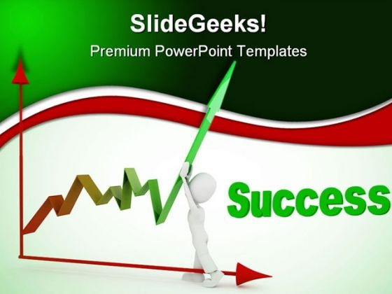 Pushing Up Profit Success PowerPoint Templates And PowerPoint Backgrounds 0511